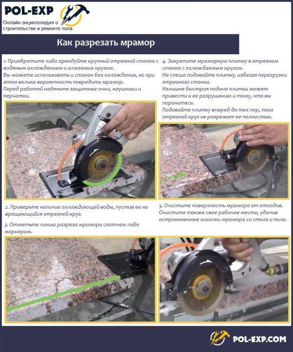 Как разрезать мрамор