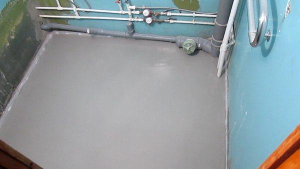 Как выровнять наливной пол после высыхания