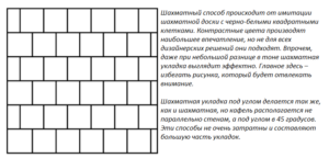 Шахматный способ