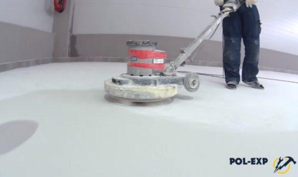 Шлифовка наливного пола