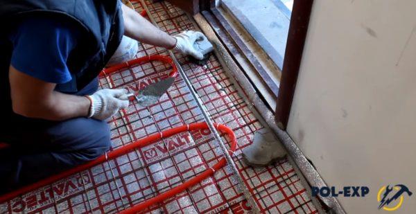 Фиксация кусков бетона
