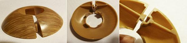 Пластиковые обводы (кольца) для труб