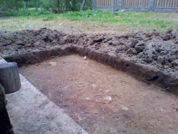 Котлован под земляной пол