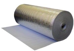 Рулонный вспененный полистирол с алюминиевым фольгированным слоем