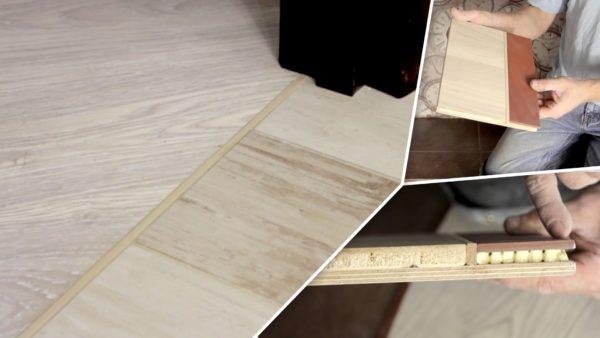 Важно соблюсти расположение материалов в одной плоскости