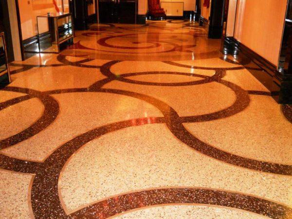 Террацо в холле отеля – пример создания оригинального рисунка