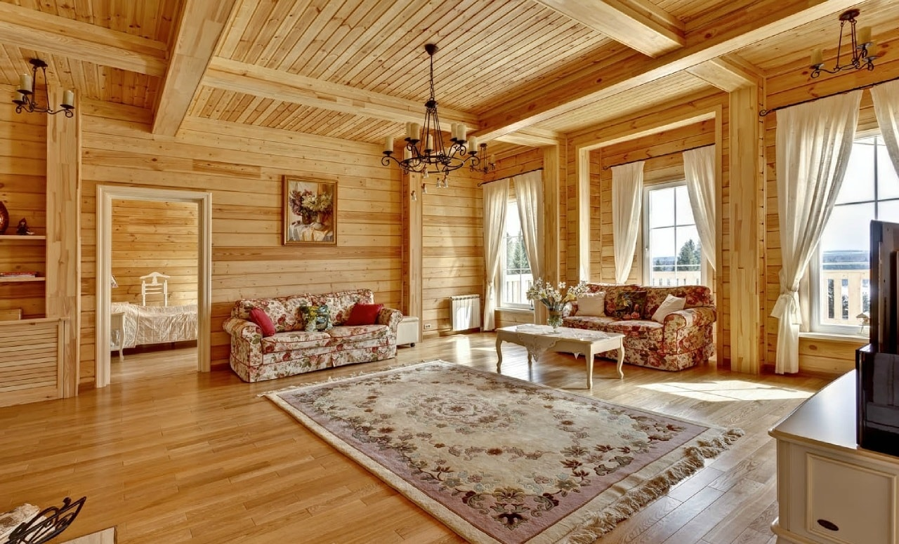 Железобетонный пол в деревянном доме