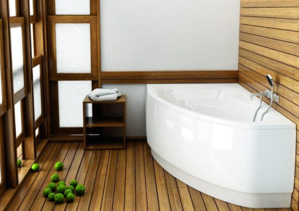 Интерьер с деревянным полом