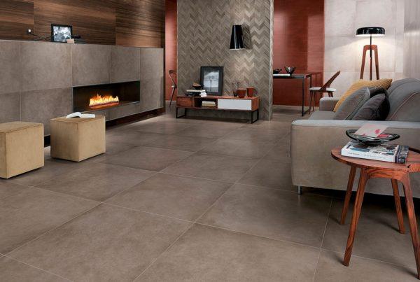 Крупную плитку рекомендуется использовать в просторных помещениях