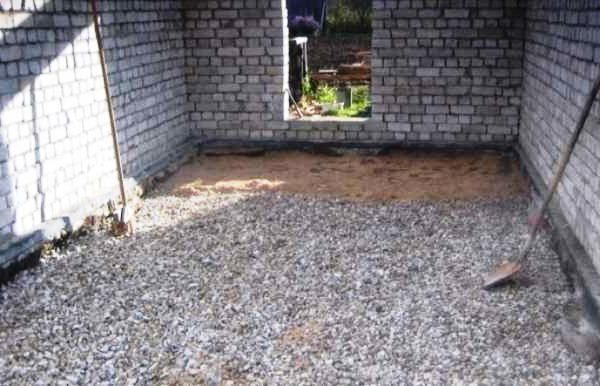 Песчано-гравийная подсыпка