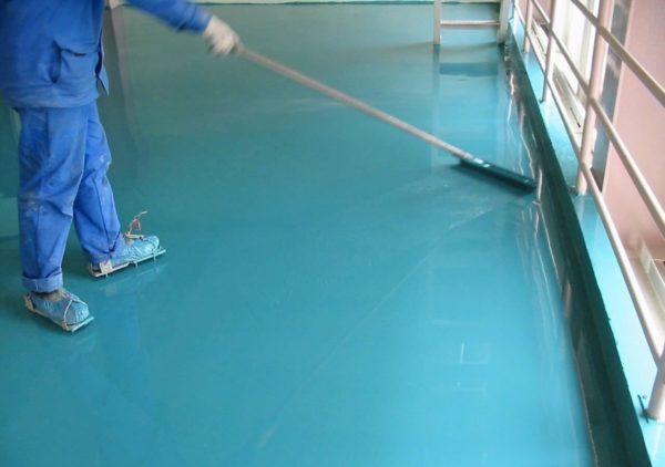 Процесс заливки эпоксидного покрытия