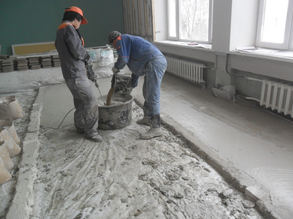 Состав бетонной стяжки пола