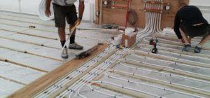 Монтаж теплого пола из металлопластиковых труб