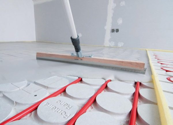 Обустройство стяжки для водяного теплого пола