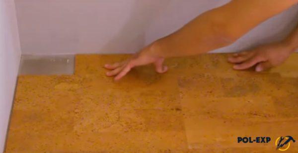 Укладка отрезка плитки