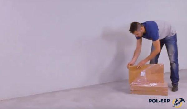 Вскрытие упаковок с напольным покрытием