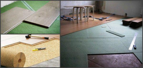 Существует несколько разновидностей материала, который может быть использован в качестве подложки