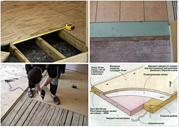 Варианты устройства деревянного пола