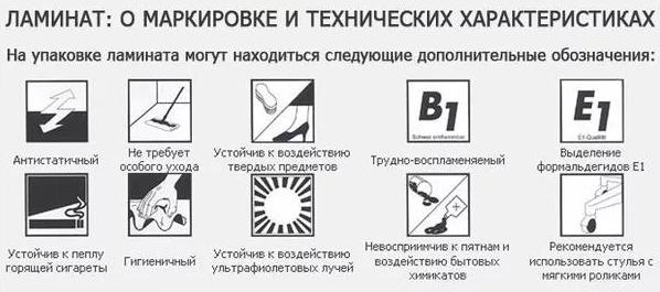 При выборе ламината учитывают условия эксплуатации и характеристики материала