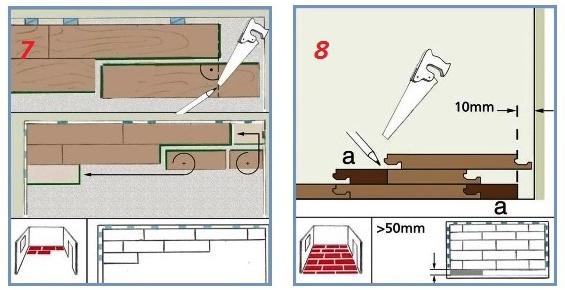 Схема подрезки ламелей