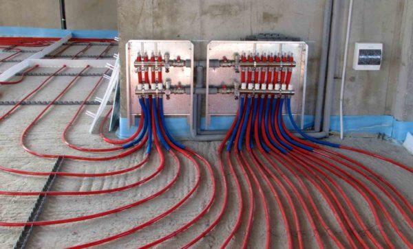 Подключение системы с водяным теплоносителем
