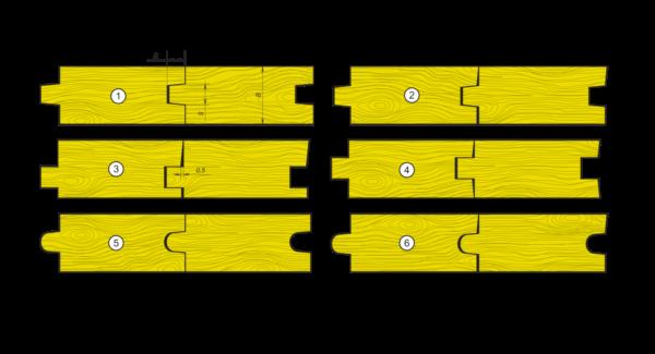 Профиль шпунтованной доски