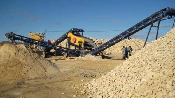 Грохот для песка в карьере