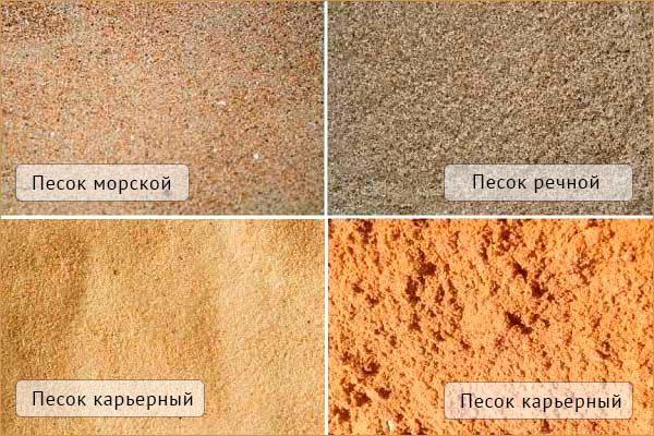 Оттенки песка в зависимости от происхождения