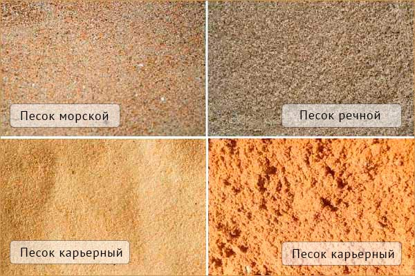 песок виды