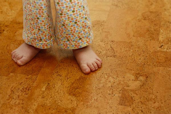 Пробковое покрытие особенно популярно в детских комнатах