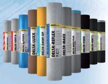 Линейка пароизоляционных материалов марки Дельта