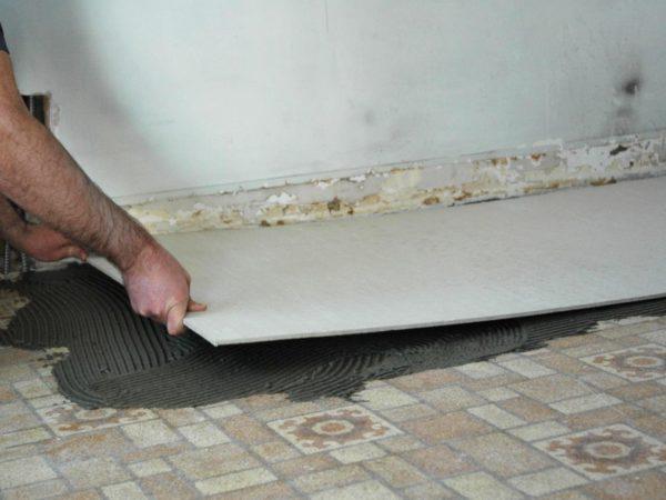 Укладка ЦСП на плитку без демонтажа