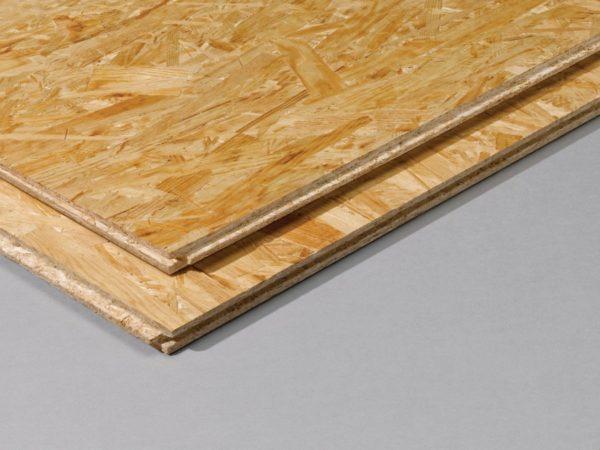 ОСБ плиты обладают торцевой замковой системой типа «шип-паз», обеспечивающей их плотное прилегание друг к другу