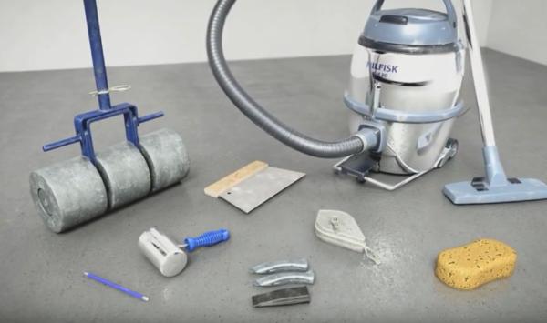Инструменты, которые понадобятся для укладки мармолеума