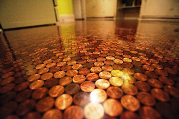 Оригинальное покрытие с монетами