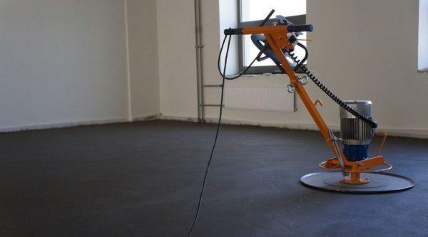 Шлифовка бетонной стяжки