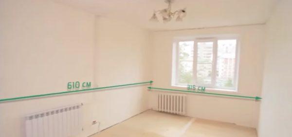 Расчеты для подложки соответствуют габаритам помещения