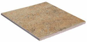 Декоративная поверхность с имитацией песка будет органично смотреться при использовании на придомовой территории