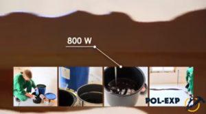 Мощность дрели должна быть более 800Вт