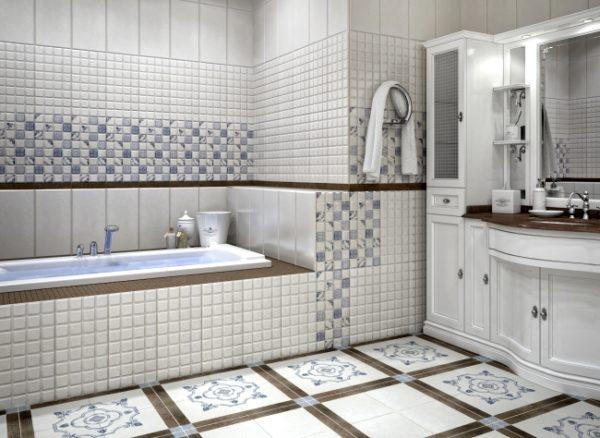 Керамическая плитка – наиболее популярный материал, который сегодня используют для отделки пола в абсолютном большинстве ванных комнат
