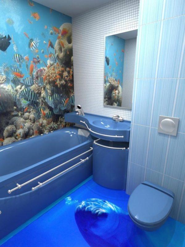 Меняя интерьер в ванной комнате, большинство людей прибегают к такому способу покрытия полового покрытия, как наливной пол