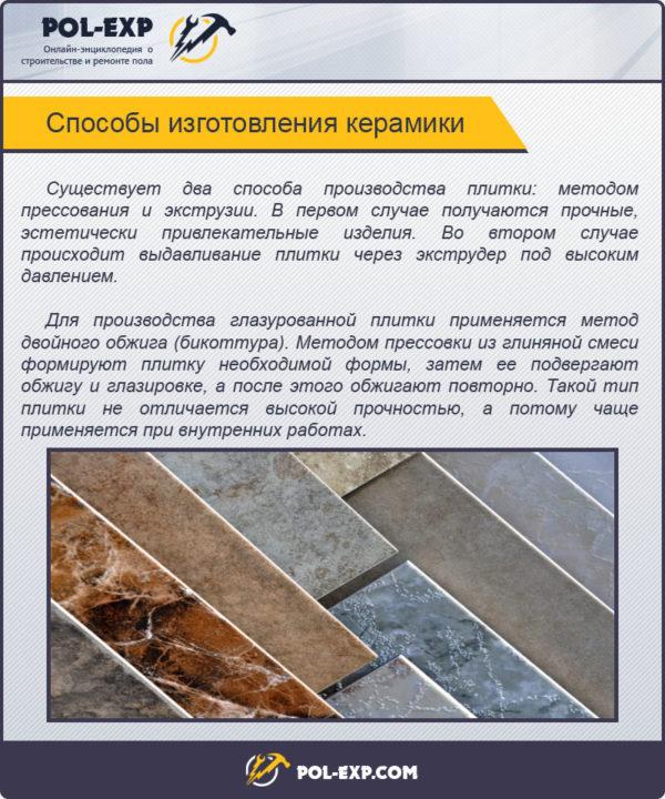 Способы изготовления керамики