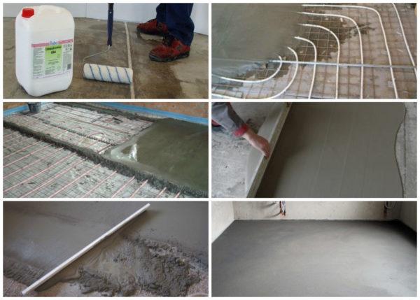 Стяжка под плитку – основные этапы изготовления