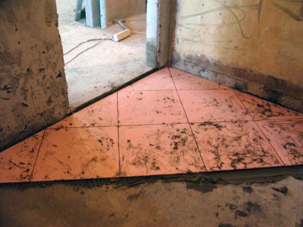 Укладка плитки в неотапливаемом помещении