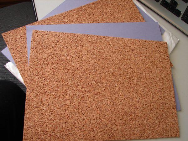 Листовой материал из пробки