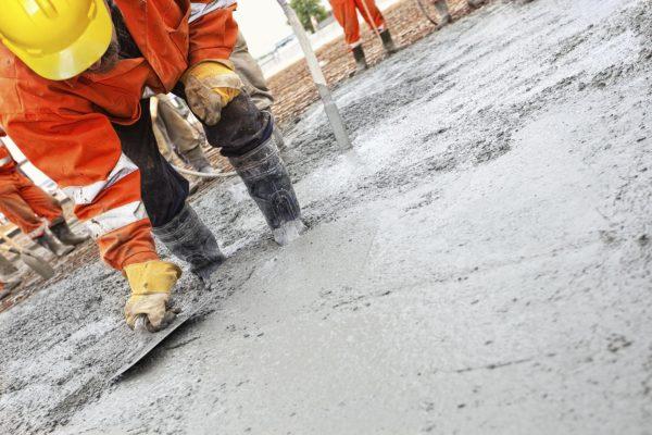 Процесс создания бетонного основания
