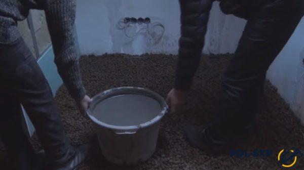 Приготовленный пескобетон