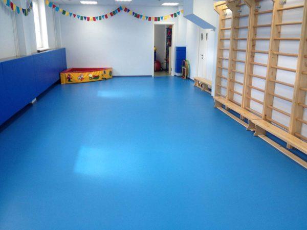 Полиуретановое покрытие в детской спортивной комнате