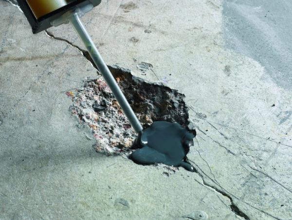 Локальный ремонт при повреждении основания