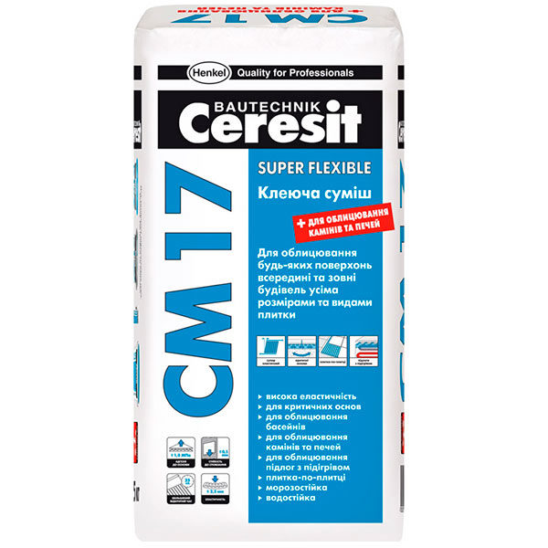 Клей для плитки Ceresit СМ-17